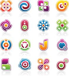 Vector libre colorido elementos de diseño de negocios