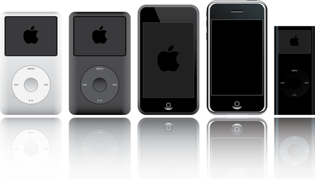 Ipod y iphone vector