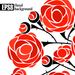 5 Roses Vector