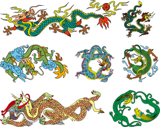 Chinese Classical Dragon Vector Of The Ten