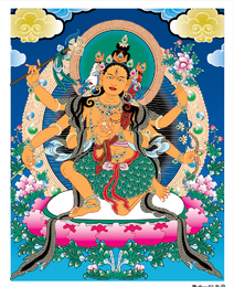 Thangka Mother Leaves Clothes Vector