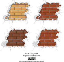 Surrounded By Snow Brick Vector Material