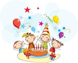 desenhos animados do aniversário