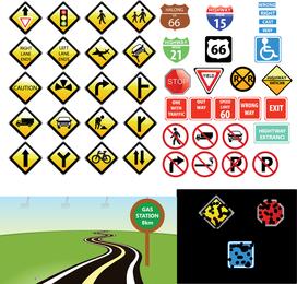 Coleção de ícone de sinais de trânsito