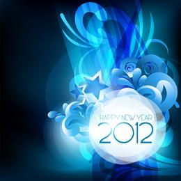 Blaues neues Jahr Design 2012