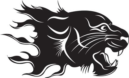 Tiger Flame Vetor
