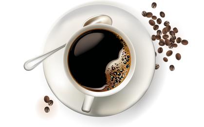 Vektor-Espresso-Kaffeetassen