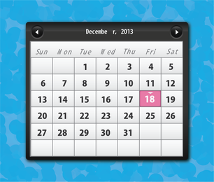 Kostenloser Vektorkalender 2013