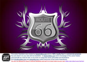 Brasão de armas Route 66