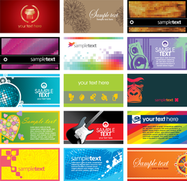 Fifteen abstract business cards template designs