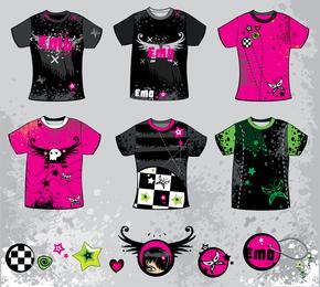 Tshirt Design Trend Vector