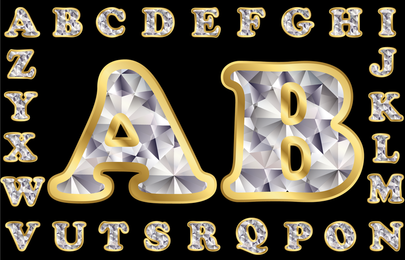 Diamond Letters 01 Vector