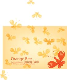 Orange Bee Brush