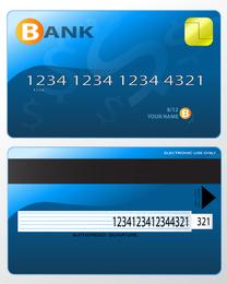 Tarjeta Bancaria Fina 04 Vector