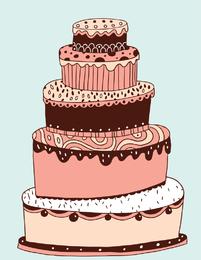 Lovely Multilayered Cake Vector