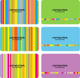 Sete cores do cartão do molde do cartão da cor