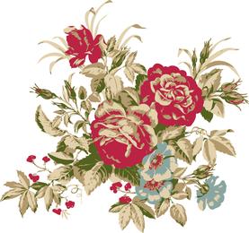 Rose Bouquet 01 Vector
