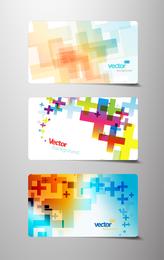 Plantilla de tarjeta de visita con cruces de colores