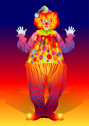 Clown Illustrator 02 Vector