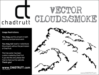 Vektor Wolken Rauch