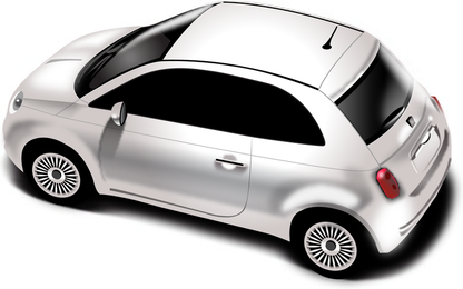 New Fiat 500 detailed illustration