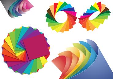 Papel de diferentes colores gráfico vectorial