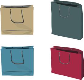 4 bolsas de papel ilustración vectorial