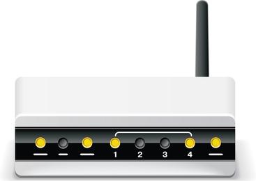 Vector de enrutador de módem inalámbrico ADSL