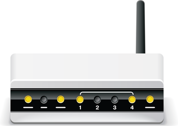 Vetor sem fio do roteador do modem de Adsl