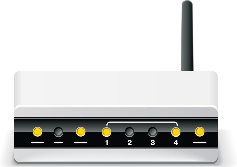 Wireless Adsl Modem Router Vector