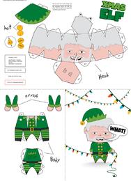 Xmas Elf Paper Craft 2