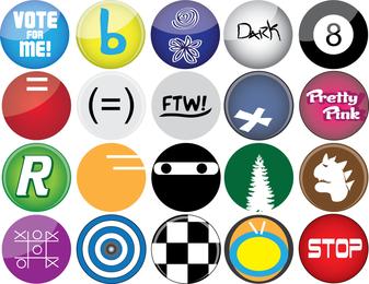 Los vectores de botón