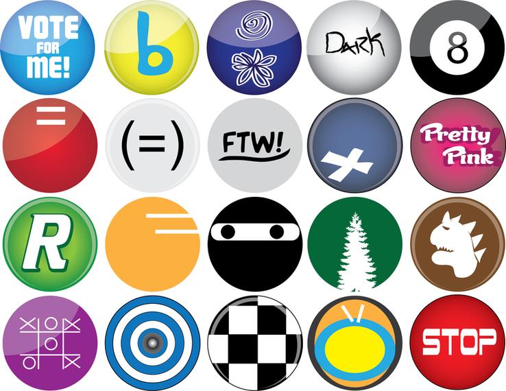 Vectores de botones
