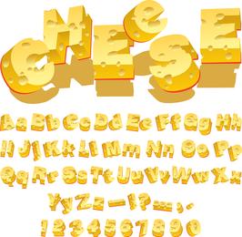 Vetor de cartas criativas de queijo
