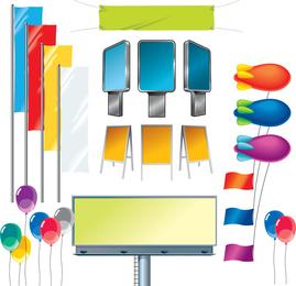 Vector Advertisment Elements
