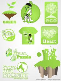 Guarda el kit de etiquetas de nuestro planeta.