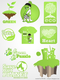Save our planet labels kit