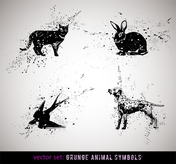 Ink Animals Vector 2