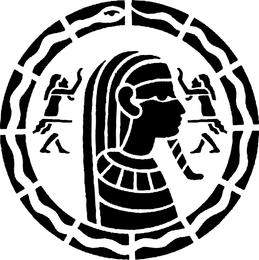 Ägyptischer Mosaik-Vektor