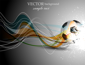 Football And Dynamic Lines Of The Vector
