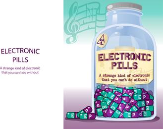 Botella de píldoras electrónicas