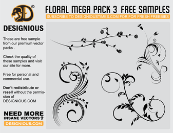 Free Vector Flourishes 4