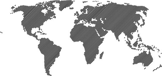World Map 45o Lines Vector