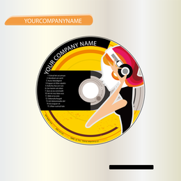 CD design with woman