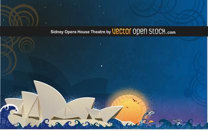 Teatro da Ópera de Sydney com formas abstratas