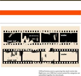 Vector de película antigua moteado
