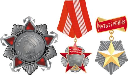 Medalha militar de vetor