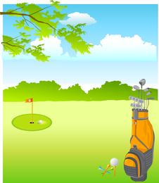 Vetor de golfe