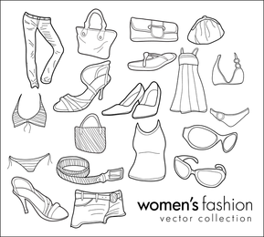 Free Vector Doodles Womenfs Clothing Fashion