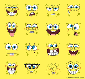 Spongebob Squarepants Vector Pack Faces